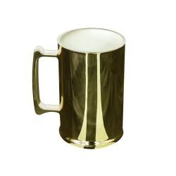 Caneca de Chopp metalizada dourada 450 ml