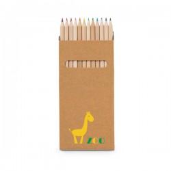 Caixa Kraft com 12 lápis de cor