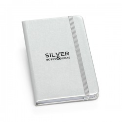 Caderneta Tipo Moleskine Metalizada 9cm x 14cm
