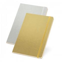 Caderneta tipo Moleskine Metalizada 13,7cm x 21cm