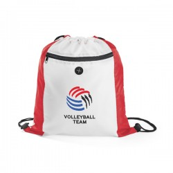 Sacochila Sacola tipo mochila Com bolso frontal e saída para fone de ouvido
