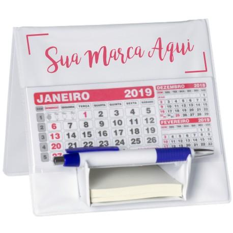 Calendário de Mesa Personalizado com Suporte p/ Rascunho