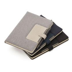 Caderno de anotações com suporte para caneta