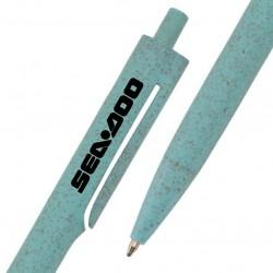 Caneta Personalizada biodegradável com fibra de trigo