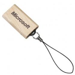 Pen Drive Retrátil Madeira 4GB