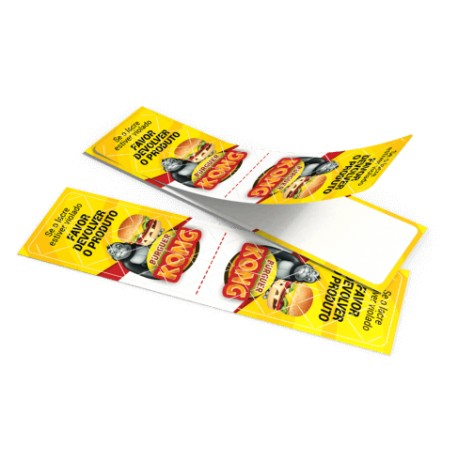 lacre de papel adesivo para caixa