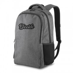 Mochila para notebook cinza e preto personalizada