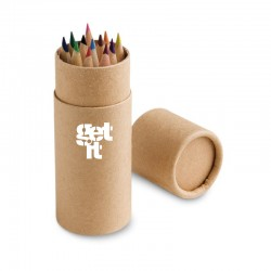 Caixa com 12 lápis de cor personalizada Get It School