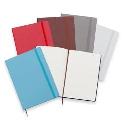 Caderneta Tipo Moleskine Personalizada em Couro Sintético
