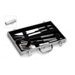 kit churrasco com 4 peças na maleta