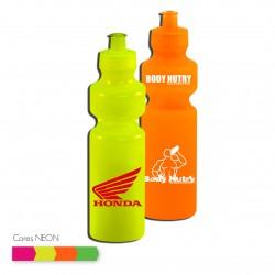 garrafa de água em plástico 750ml cores neon